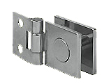 hinges, non-hingeable, 25 x 30 mm, with wall plate, opening 10 mm, for glass 0.70 x 0.50, chromium-plated brass