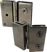 Glass/glass angle hinge, with ADM/H