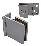 hinges Adler® square shape with wall plate 40 x 40, mat chrome brass