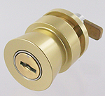 lock with cam for showcase, same key, Delivered without key, anodised gilded effect