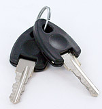 key n°1 for sliding track lock