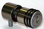Knob lock with bolt,  keyed alike nb 1,  key not supplied,    anodised  stainless steel finish