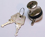 lock with handle, glass 6 mm thick, same key number, matt nickel