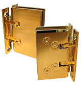 self-closing hinge saloon wall/gl stop x2 gilded brass