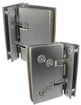 self-closing hinge isodouche gl/gl.90 x2  mat chrome brass