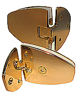 indexed hinge venus wall/gl th.8 x2 gilded brass