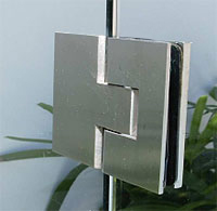 hinge  A.S. gl/gl.180    brushed stainless steel