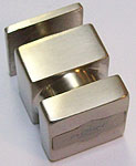 bouton capsi carré 30 simple  cupro-aluminium nickel brossé