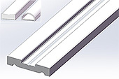 flat section profil clip-in-door 25x5x2140 not drilled   chromed