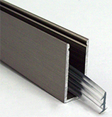U section adslide alu glass 8mm x4m   bss finish