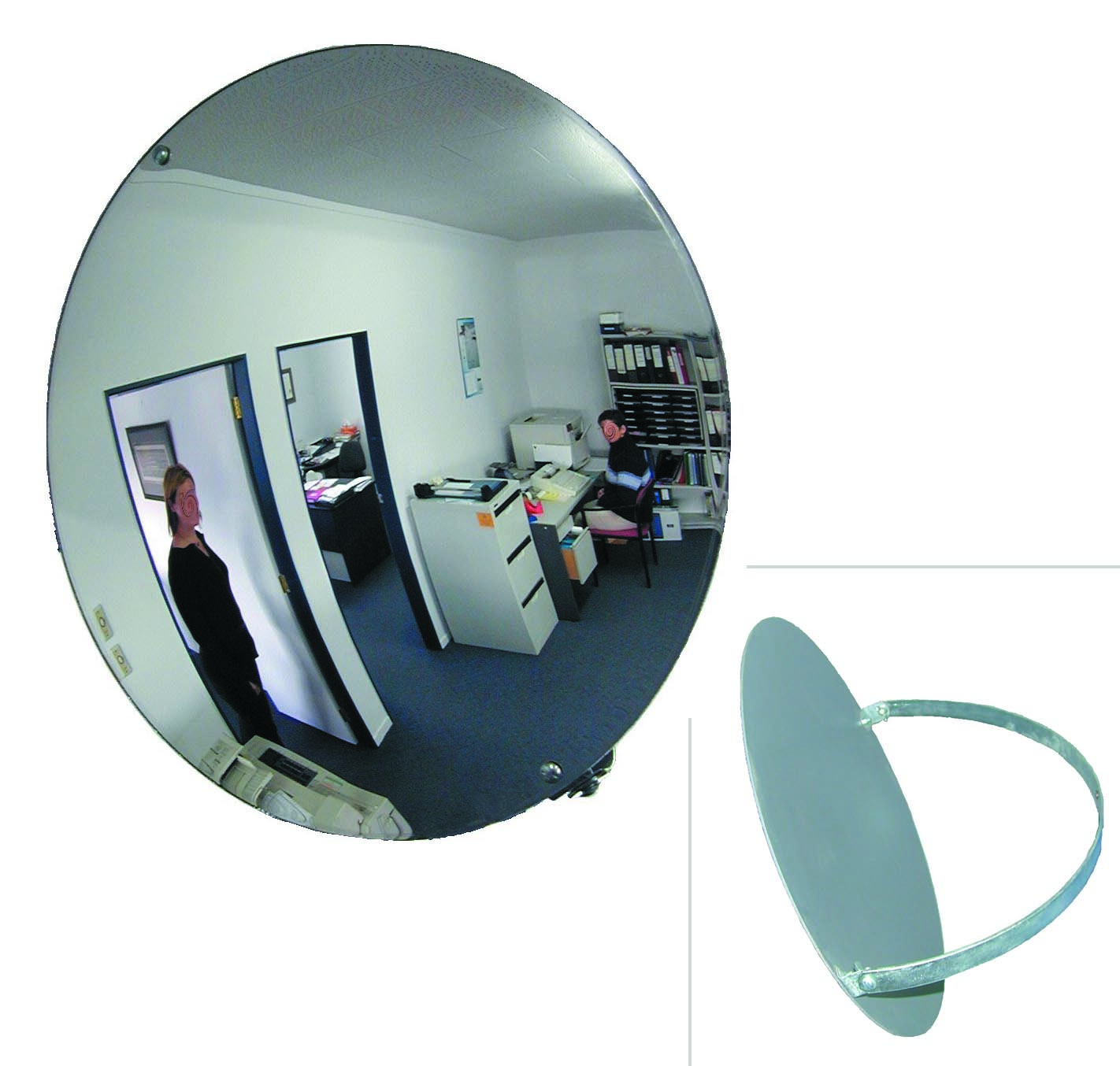 Miroir convex s rie eco 30 cm for Application miroir